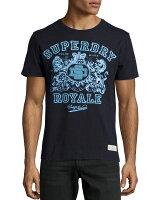 Superdry極度乾燥商品推薦美國百分百【Superdry】極度乾燥 T恤 上衣 T-shirt 短袖 短T 圓領 深藍 皇家 徽章 S號 F339