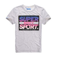Superdry極度乾燥商品推薦美國百分百【Superdry】極度乾燥 T恤 上衣 T-shirt 短袖 短T 圓領 復古 霓虹 螢光粉 灰色 S M L號 F340