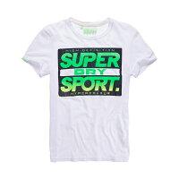 Superdry極度乾燥商品推薦美國百分百【Superdry】極度乾燥 T恤 上衣 T-shirt 短袖 短T 圓領 復古 霓虹 螢光綠 白色 L XL XXL號 F340