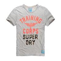 Superdry極度乾燥商品推薦美國百分百【Superdry】極度乾燥 T恤 上衣 T-shirt 短袖 短T 圓領 復古 迷彩 灰色 L號 F341