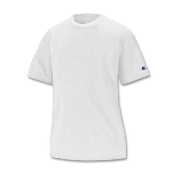 美國百分百【Champion】冠軍 T恤 短袖 T-shirt logo 素T 排汗 快乾 高磅數 白色 S號 F386