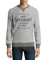 Superdry極度乾燥商品推薦美國百分百【全新真品】Superdry 極度乾燥 T恤 T-shirt 大學T 長袖 鋪棉 復古 S號 灰色 S M L XL XXL號 F486