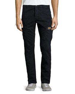 美國百分百【全新真品】Superdry 極度乾燥 工作褲 長褲 休閒褲 口袋 簡約 窄版 深藍色 S L XXL號 F490