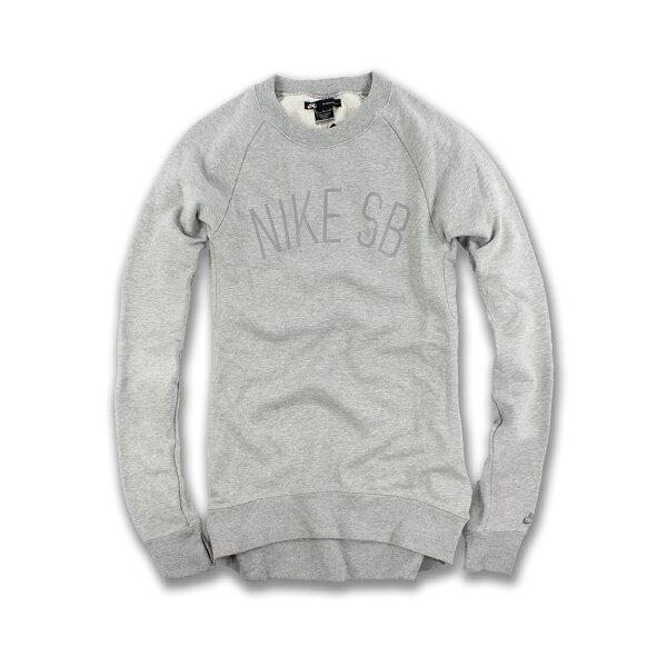 美國百分百【全新真品】Nike T恤 耐吉 長袖 T-shirt 排汗 運動 男 夜光 LOGO 灰色 S號 F624