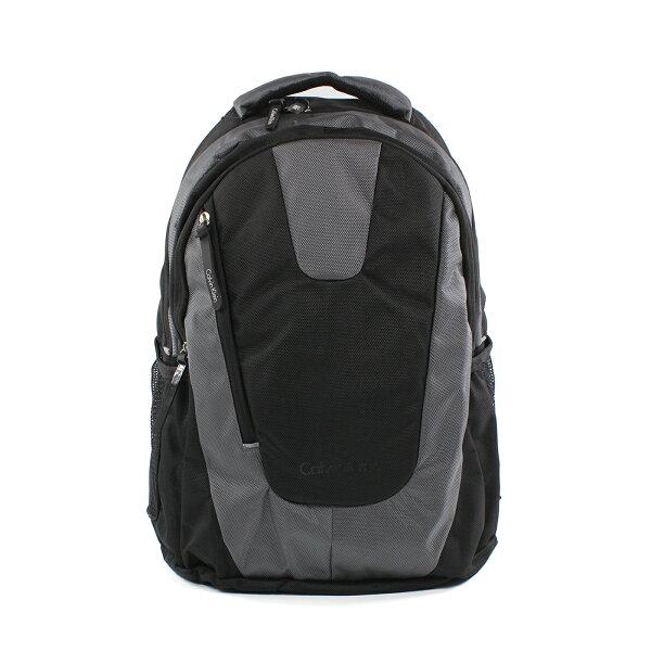 美國百分百【全新真品】Calvin Klein 後背包 CK 後背包 肩背包 電腦包 尼龍 通勤 黑色 灰色 F649