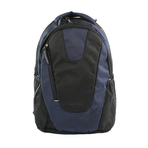 美國百分百【全新真品】Calvin Klein 後背包 CK 後背包 肩背包 電腦包 尼龍 通勤 黑色 深藍 F649
