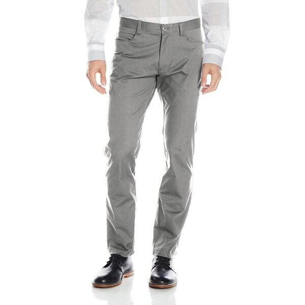 美國百分百【全新真品】Calvin Klein 休閒褲 CK 長褲 褲子 牛仔褲 合身 男 淺灰 32腰 F655