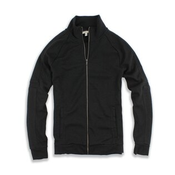 美國百分百【全新真品】Calvin Klein 外套 CK 夾克 立領 騎士 黑色 男衣 棉質 外衣 M號 F750
