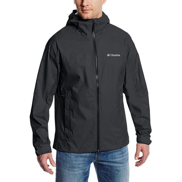 美國百分百【全新真品】Columbia 風衣 外套 哥倫比亞 防雨 多功能 防水 防污 防風 輕量 黑色 S號 F752