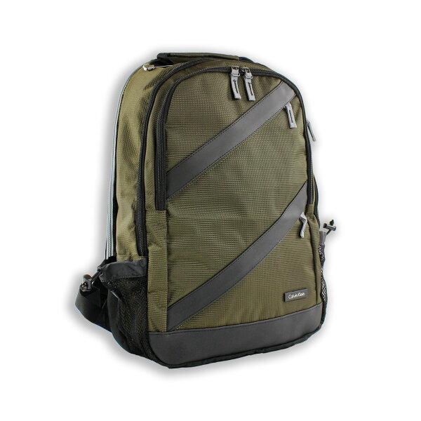 美國百分百【全新真品】Calvin Klein 後背包 公事包 電腦包 上班 通勤 上課 旅行 CK 軍綠色 F761