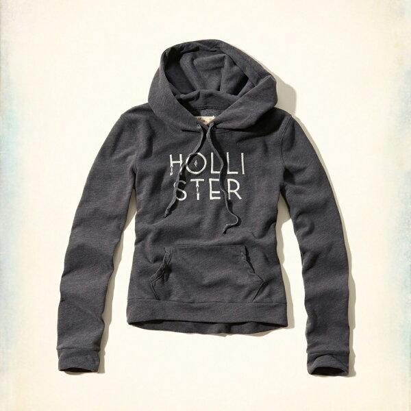 美國百分百【全新真品】Hollister Co. 帽T HCO 連帽 長袖 T恤 海鷗 深灰 女 L號 特價 F821