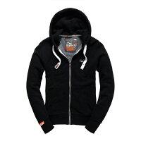 Superdry極度乾燥商品推薦美國百分百【全新真品】Superdry 極度乾燥 連帽 外套 夾克 帽T 刷毛 拉鍊 經典款 黑色 M L號 F842
