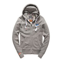 Superdry極度乾燥商品推薦美國百分百【全新真品】Superdry 極度乾燥 連帽 外套 夾克 帽T 刷毛 拉鍊 經典款 灰色 L XL號 F842
