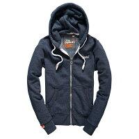 Superdry極度乾燥商品推薦美國百分百【全新真品】Superdry 極度乾燥 連帽 外套 夾克 帽T 刷毛 拉鍊 經典款 藍灰色 白字 S號 F842