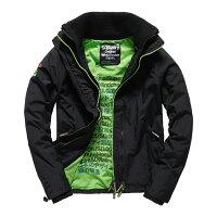 Superdry極度乾燥商品推薦美國百分百【全新真品】Superdry 極度乾燥 風衣 立領 外套 防風 夾克 網眼 黑色 螢光綠 S M L XL XXL號 F852