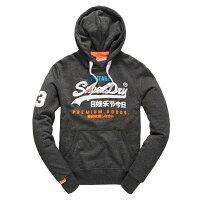 Superdry極度乾燥商品推薦美國百分百【全新真品】Superdry 極度乾燥 帽T 連帽 長袖 刷毛 經典款 復古 S號 砂礫黑 F873