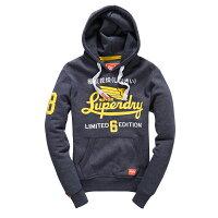 Superdry極度乾燥商品推薦美國百分百【全新真品】Superdry 極度乾燥 帽T 連帽 長袖 刷毛 經典款 復古 S號 藏藍色 F875