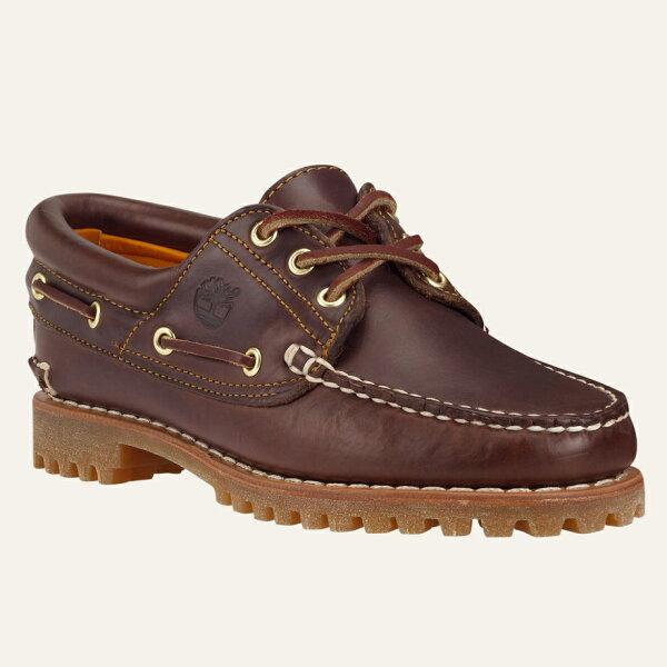 美國百分百【Timberland】51304 鞋子 雷根鞋 手工 牛皮 皮鞋 帆船鞋 經典 三眼 女鞋 咖啡色 US 6號、6.5號、7號、7.5號 F893