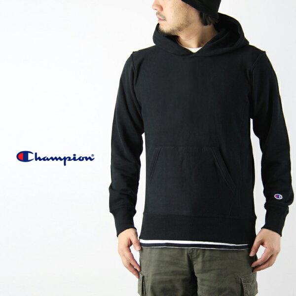 美國百分百【全新真品】Champion 冠軍 棉質 帽T 連帽 T恤 長袖 刷毛 上衣 黑色 XS S號 F936