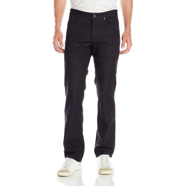 美國百分百【Calvin Klein】牛仔褲 CK 休閒褲 長褲 單寧 直筒 合身 男 深藍色 30 32腰 F974