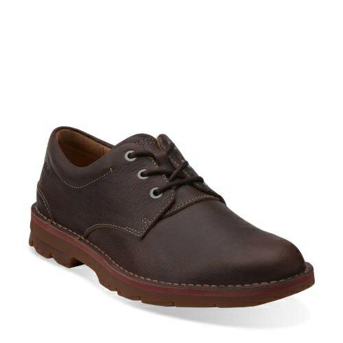 美國百分百【Clarks】 Varick Free 皮鞋 休閒 鞋子 沙漠靴 英倫 男 深咖啡 7.5 8號 G110