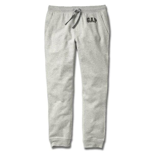 美國百分百【全新真品】GAP 褲子 長褲 棉褲 休閒褲 美式經典 jogger 束口 縮口褲 XS S號 灰色 G141