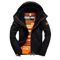 Superdry極度乾燥商品推薦美國百分百【Superdry】極度乾燥 Attacker 風衣 連帽 外套 防風 夾克 刷毛 黑色 橘色 XS S M L號 F966