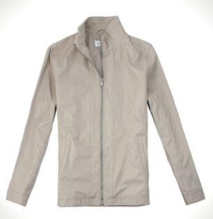 美國百分百【全新真品】Calvin Klein CK 型男 擋風外套 立領夾克 透氣 騎士 金屬色 免運 M XL