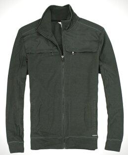 美國百分百【全新真品】Calvin Klein CK 針織線衫 軍綠外套 立領夾克 男 帥氣設計款 免運 M