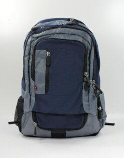 美國百分百【全新真品】Levis 專櫃 男包 女包 後背包 藍色 旅行袋 書包 登山包 大容量 包