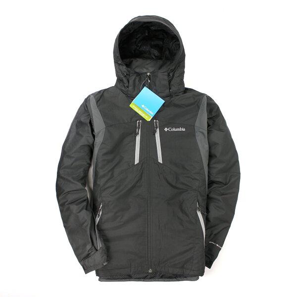美國百分百【全新真品】Columbia 外套 連帽外套 夾克 哥倫比亞 黑綠 防汙 防水 omni shield 男 S號