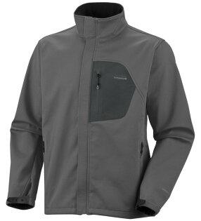 美國百分百【全新真品】Columbia 外套 哥倫比亞 夾克 軟殼 灰 發熱 防水 防污 titanium 男 M B946