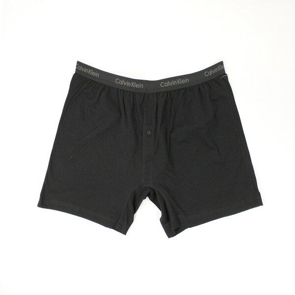 美國百分百【全新真品】Calvin Klein 內褲 CK 四角褲 平口褲 黑 素面 柔軟 鈕扣 大尺 男 XL號