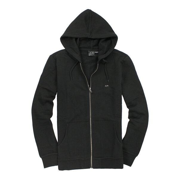 美國百分百【全新真品】Armani Exchange 外套 AX 連帽外套 夾克 亞曼尼 黑 Logo 男 S M L A871