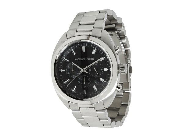 美國百分百【全新真品】Michael Kors 手錶 MK 配件 腕表 三眼 日本機蕊 黑 銀 不鏽鋼 男 免運 8270