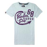 Superdry極度乾燥商品推薦美國百分百【全新真品】Superdry T恤 短袖 上衣 T-shirt Logo 文字 藍灰 極度乾燥 純棉 男 S 2XL號