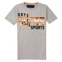 Superdry極度乾燥商品推薦美國百分百【全新真品】Superdry T恤 短袖 上衣 T-shirt Logo 文字 灰 極度乾燥 男 S M L XL XXL