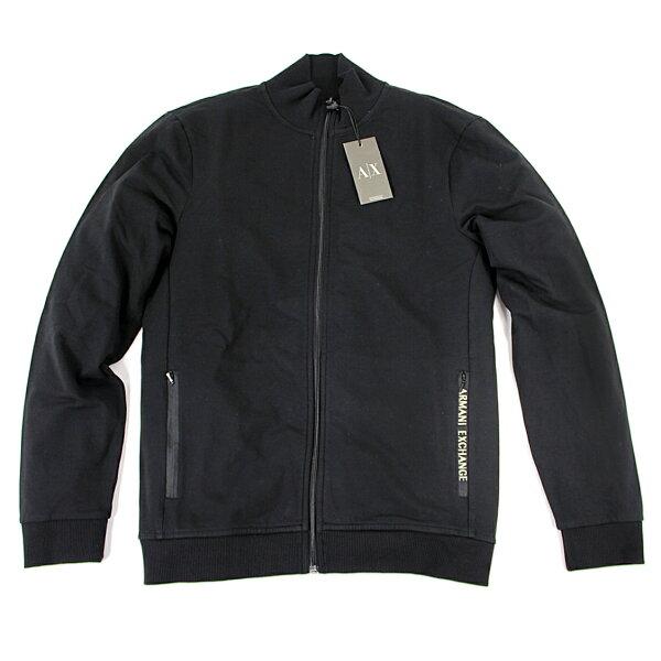 美國百分百【全新真品】Armani Exchange 外套 AX 夾克 亞曼尼 立領 運動 黑色 男 S M號 E107