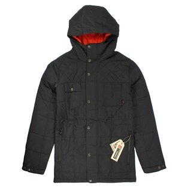 美國百分百【全新真品】Quiksilver 外套 夾克 防風 防寒 透氣 保暖 連帽 口袋 S M L號 黑色 E176