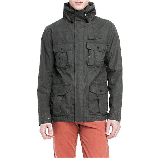 美國百分百【全新真品】Armani Exchange 外套 AX 夾克 軍外套 亞曼尼 騎士 風衣 S M 灰 E284