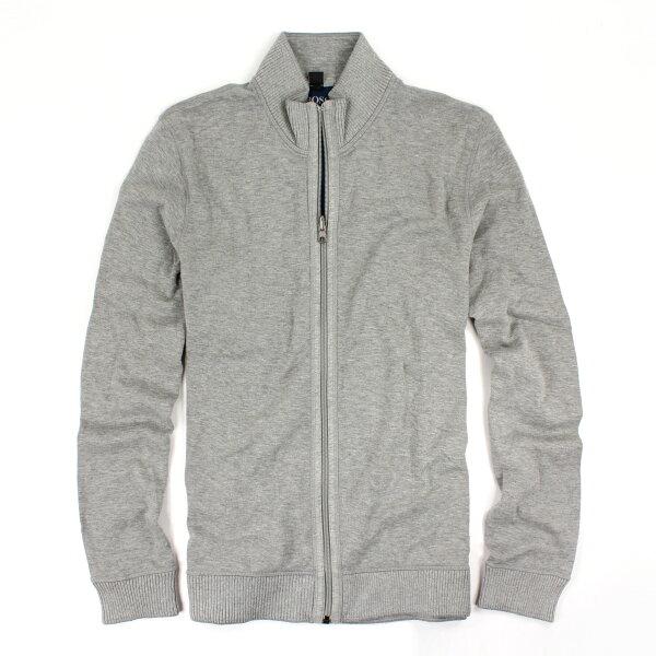 美國百分百【全新真品】Hugo Boss 外套 立領 夾克 休閒 網眼 專櫃 灰色 男 XL號 E300