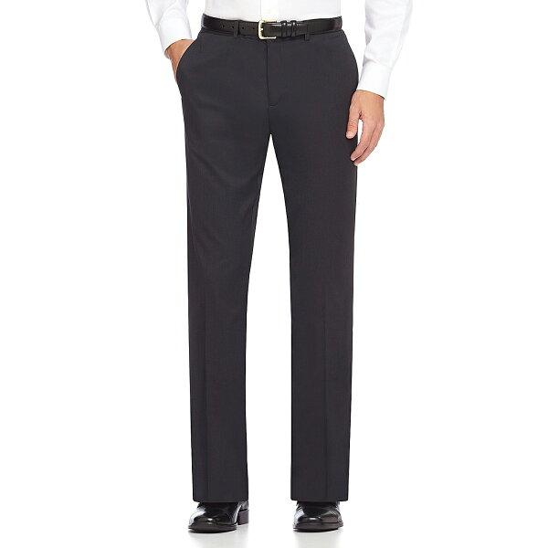 美國百分百【Calvin Klein】長褲 CK 西裝褲 直筒褲 休閒褲 上班 合身 格紋 黑色 30腰 E314