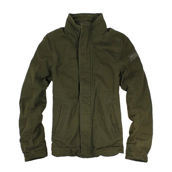 美國百分百【Abercrombie & Fitch】AF 麋鹿 綠 長袖 外套 夾克 立領 S M 修身 騎士 C455