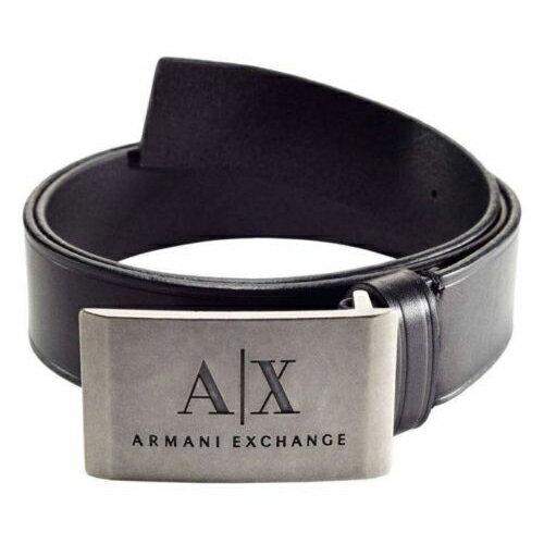 美國百分百【Armani Exchange】AX 男 皮帶 腰帶 專櫃 配件 黑 32 34 38腰 E338