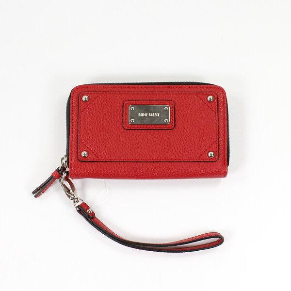 美國百分百【全新真品】NINE WEST 皮夾 小包 手拿包 外出包 長夾 隨身包 晚宴包 錢包 短夾 紅色 E347