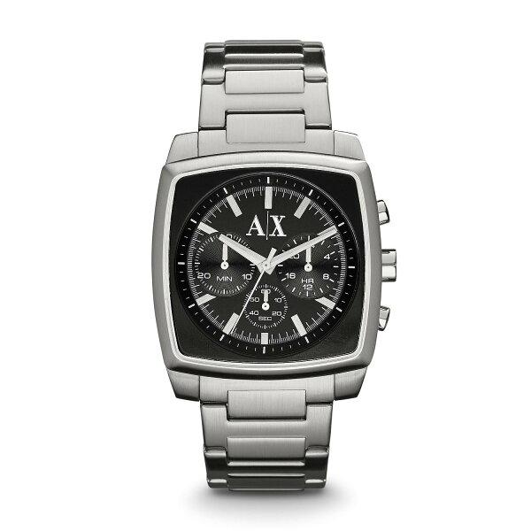 美國百分百【Armani Exchange】配件 AX 手錶 腕錶 金屬 運動 男錶 石英 阿曼尼 不鏽鋼 E373