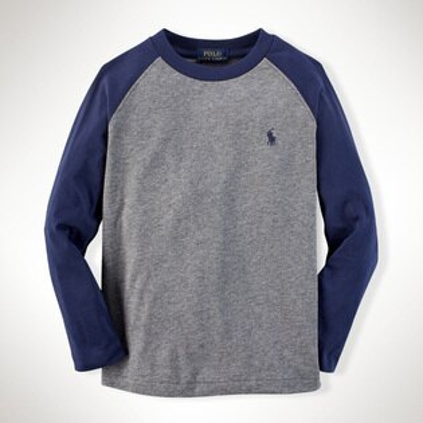美國百分百【全新真品】Ralph Lauren T恤 RL polo 小馬 T-shirt 灰色 深藍 XS S號 E430