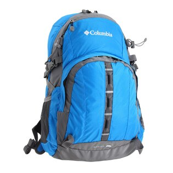 美國百分百【全新真品】Columbia 後背包 哥倫比亞 書包 電腦 登山 筆電 運動 單車 防水 藍 E626