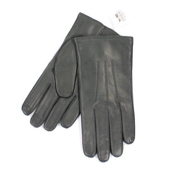 美國百分百【全新真品】COACH 手套 皮手套 82863 灰色 配件 真皮 保暖 喀什米爾 羊毛 男 M號 E681