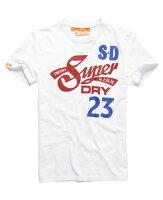 Superdry極度乾燥商品推薦美國百分百【Superdry】極度乾燥 T恤 上衣 T-shirt 短袖 短T 白色 S M號 E695